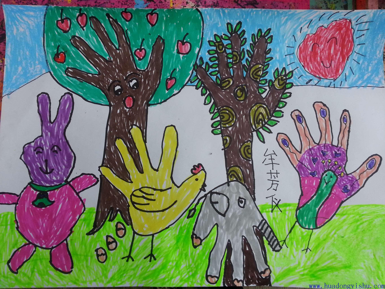 华东艺术创意思维儿童画 (44)图片